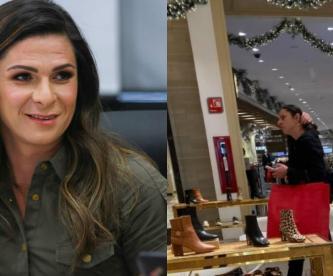 Ana Gabriela Guevara de compras