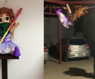 piñata feminista destruida