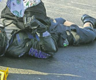 derrapa motociclista muere atropellado gustavo a madero cdmx