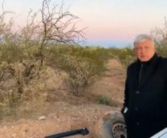 VIDEO: Se le poncha la llanta a AMLO, cuando iba a Bavispe con los LeBarón