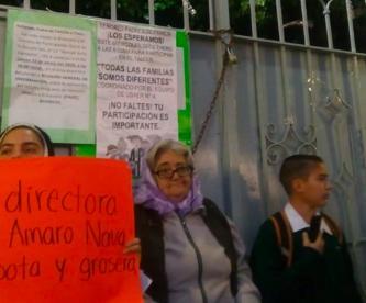 Padres de familia rechazan cámaras de vigilancia en secundaria de Morelos