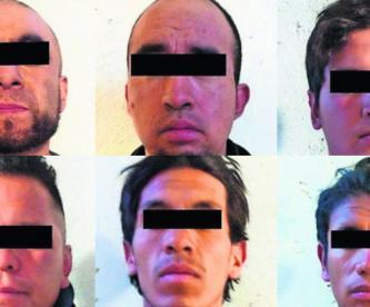 Atoran a siete hombres acusados de secuestrar a un taxista en calles del Edomex