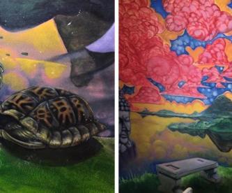 Mujer de E.U descubre mural hindú en su casa después de que su gato arrancará el tapizado