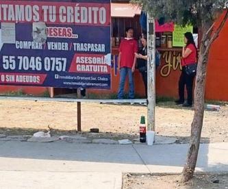 Sicario ejecuta a checador de transporte público de 17 años de edad, en Chalco