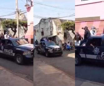 """Policías de Morelos llaman """"extraterrestres"""" a los que no respetan cuarentena"""