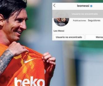 Desaparece Leo Messi de Instagram y genera todo tipo de teorías