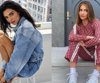 Kylie y Kendall Jenner seducen a sus fans, posando juntas en paños menores