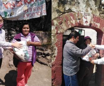 Por el Covid-19, vecinos de Toluca entregan despensas a lo más necesitados