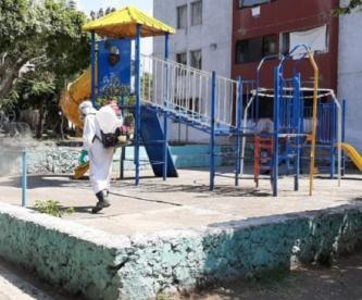 Servicios de Salud de Morelos realizó un operativo de sanitización en unidad habitacional