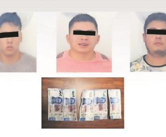 Autoridades en Morelos detienen a hombres que circulaban billetes falsos en el Estado