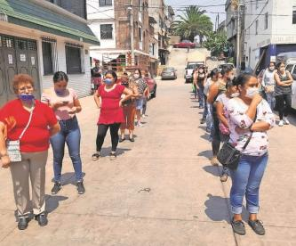 Banco de Alimentos reparte despensas a grupos vulnerables por la pandemia en el Edomex