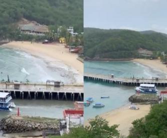 Protección Civil enciende Alerta de Tsunami en playas de Oaxaca tras sismo de 7.5