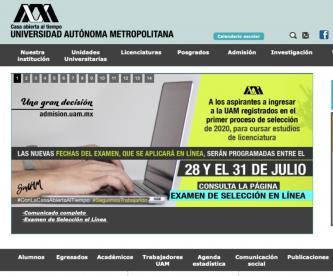 Universidad Autónoma Metropolitana hará examen de ingreso en línea, por primera vez