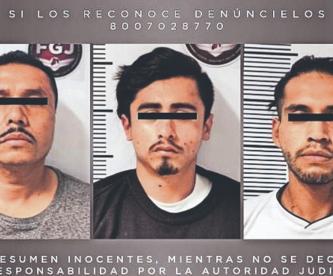 Detienen a tres secuestradores y liberan a una víctima, en San Mateo Atenco