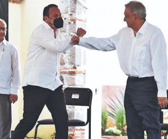 Andrés Manuel López Obrador refrenda su apoyo a Cuauhtémoc Blanco, en su visita a Morelos