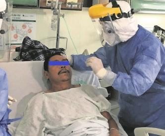Tras recuperarse de Covid-19, hombre da terapias de rehabilitación pulmonar en el Edomex