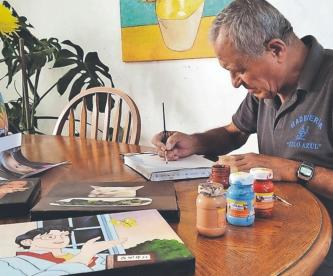 Pintor mexiquense se vuelve un fenómeno por transformar memes en obras de arte
