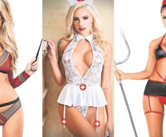 Modelos se dan a la tarea de salvar el Halloween del Covid-19 y posan con sexys disfraces