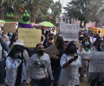Tras presunto asesinato de niña de 13 años, familiares marchan en Ixtapaluca por justicia
