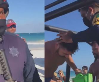 Detienen a pareja homosexual por besarse en la playa, en Quintana Roo