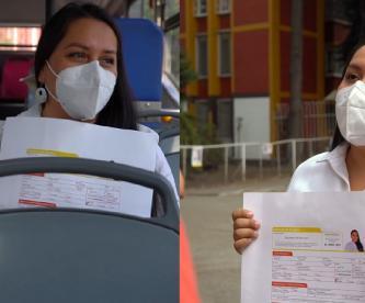 Con solicitud de empleo, candidata de Va por la CDMX a la alcaldía Iztacalco pide el voto
