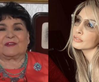 Carmen Salinas se disfraza para vacunarse contra Covid, le manda un mensaje a Paty Navidad