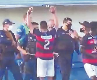 Policía dispara a jugadores en pleno partido de fútbol, en Brasil