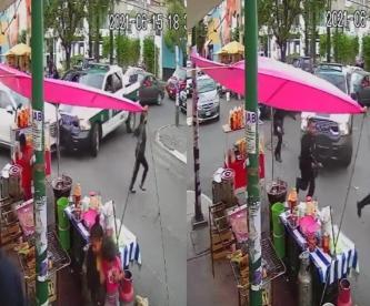 Video captó balacera que tumbó a un asaltante en Ciudad de México, su víctima lo reconoció
