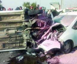 carambola automovilista Zumpango accidente lesionados