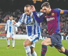 Lionel Messi  Ousmane Dembélé Barcelona Leganés Liga Española