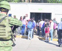 Ejército Morelos Vigila Escuelas