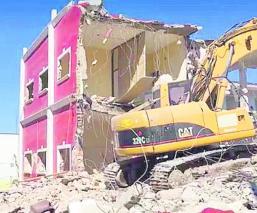 Demolición palacio municipal Ayala Morelos 19-S