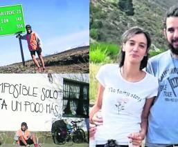 ciclista recorre kilómetros Martín Péndola Rocío se separan la busca en bicicleta