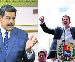 Nicolás Maduro Juan Guaidó posturas ayuda humanitaria Venezuela