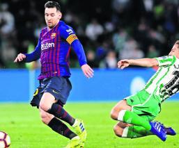 Fútbol Liga Española Lionel Messi Goliza Triplete Barcelona Betis