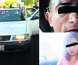 Atoran trío automóvil robado Metepec