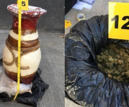 Hallan marihuana oculta jarrones decorativos Michoacán