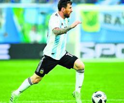 es una alegría, contar con Lionel Messi
