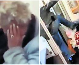 Pasajero del metro golpea a abuelita y nadie lo detiene, en Nueva York