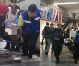 Mujer embarazada Cae de escaleras STC Metro CDMX