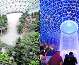 Inauguran enorme cascada artificial