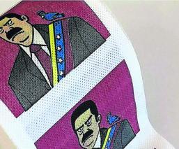 rollos de papel higiénico Nicolás Maduro