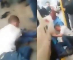 Pasajeros de combi dan tremenda golpiza a ladrón en Los Reyes La Paz