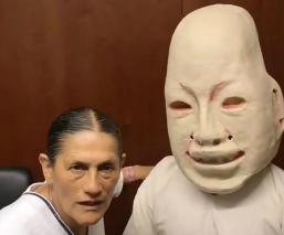 Jesusa Rodríguez aparece junto a macabra estatua e internautas reaccionan
