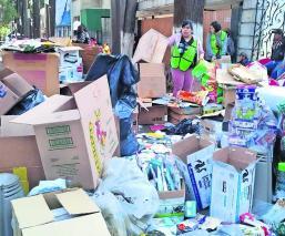 Toluqueños recolectan material para reciclar