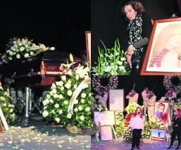 Con rosas y aplausos así le dieron el último adiós a Edith González