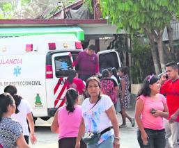 lámina techumbre cae encima profesor maestro secundaria lesionado heridas hospitalizado Jiutepec México