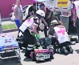 Mototcilista atropellado Trailer escapa Edomex