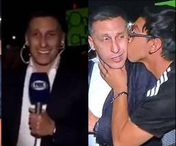 Aficionado besa al 'Chaco' Giménez en pleno programa