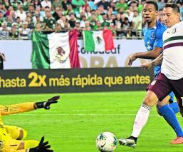 México gana 3-2 contra Martinica